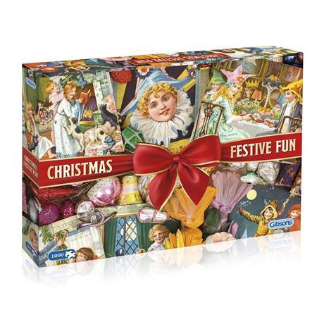 Christmas Festive Fun Jigsaw 1000pc Image 1
