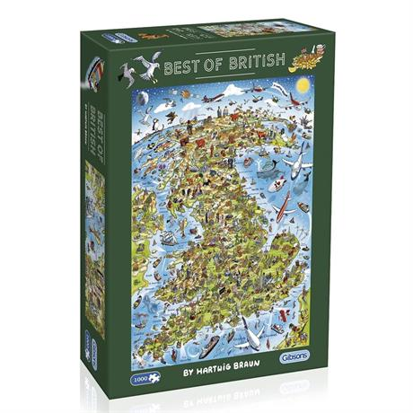 Best of British Jigsaw 1000pc (Rectangul Image 1