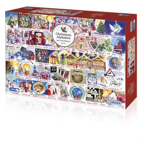 Christmas Alphabet Jigsaw 1000pc Image 1