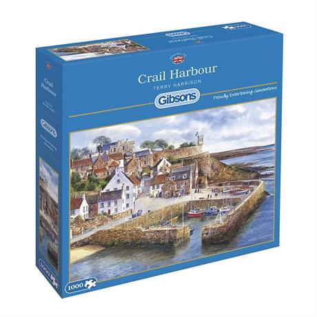 Crail Harbour Jigsaw 1000pc Image 1