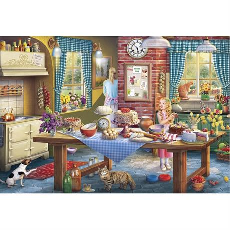 Sneaking a Slice 500 Piece Jigsaw Puzzle Image 1