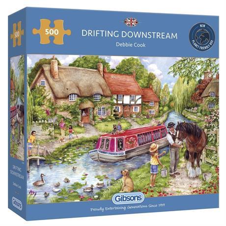Drifting Downstream 500 Piece Jigsaw Puzzle Image 1