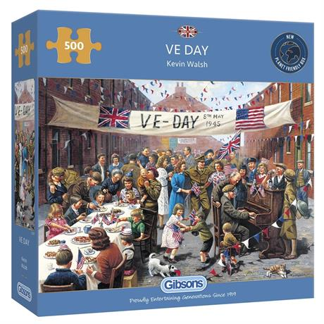 VE Day 500 Piece Jigsaw Puzzle Image 1