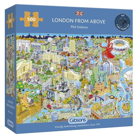 London From Above Jigsaw 500 Image 1