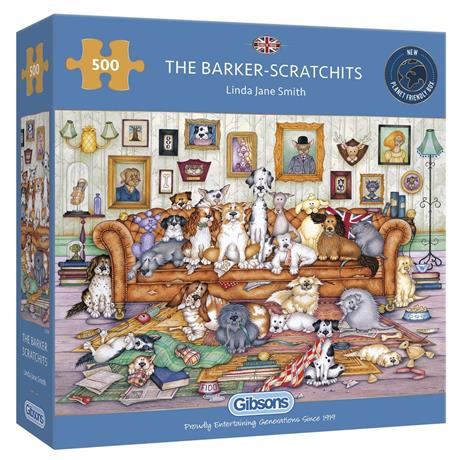 The Barker Scratchits Jigsaw 500pc Image 1