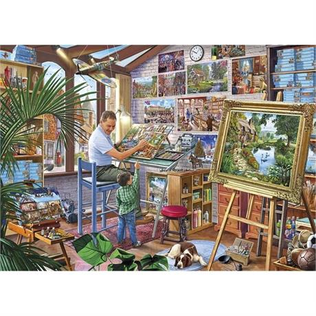 A Work of Art 500XL Piece Jigsaw Puzzle Image 1