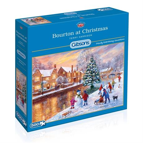 Bourton At Christmas Jigsaw 500pc Image 1