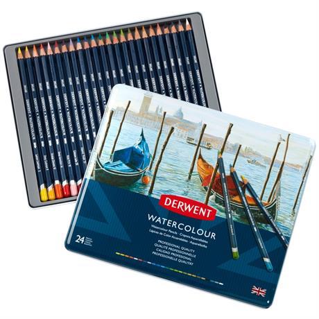 Derwent Watercolour Pencils Tin of 24 Image 1
