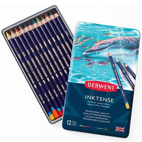 Derwent Inktense Pencils Tin of 12 Image 1
