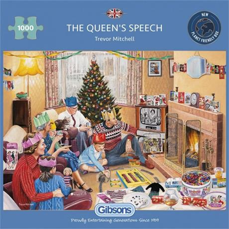 The Queen's Speech 1000 Piece Jigsaw Puzzle Image 1