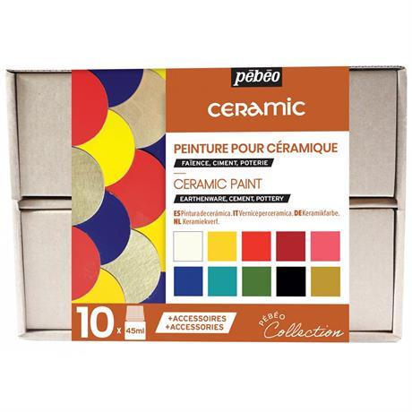 Pebeo Ceramic Collection Set 10 x 45ml Image 1