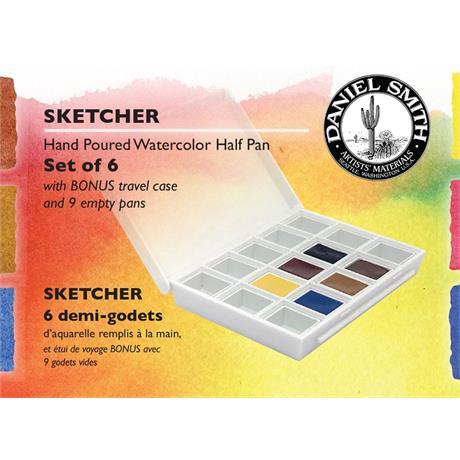 Daniel Smith Watercolour SKETCHER Half Pan set of 6 Image 1