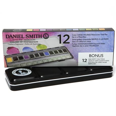 Daniel Smith Colours of Inspriation - 12 Half Pan Metal Box Image 1