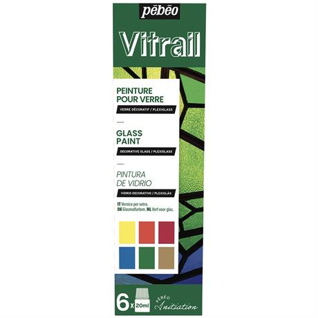 Pebeo Vitrail Initiation Set 6 x 20ml Image 1