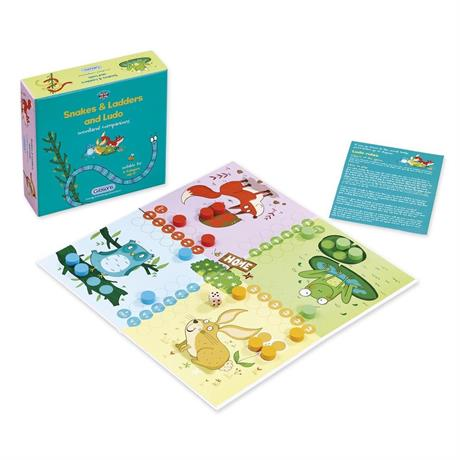 Gibsons Snakes & Ladders and Ludo game Image 1