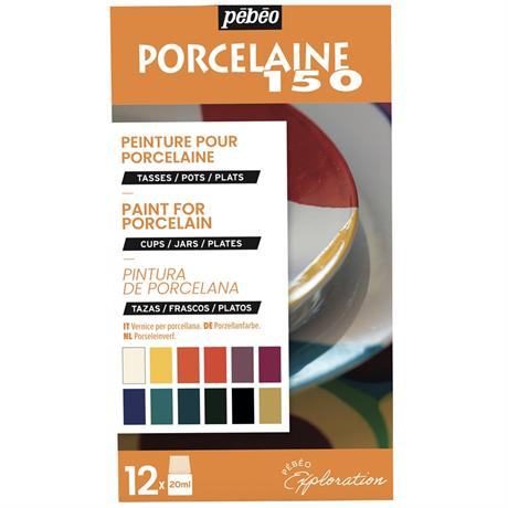 Pebeo Porcelaine 150 Explorer Set 12 x 20ml No.1 Colours Image 1