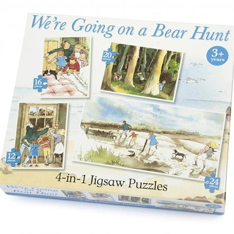 We're Going on a Bear Hunt 4 in 1 Jigsaw Puzzle Set Image 1