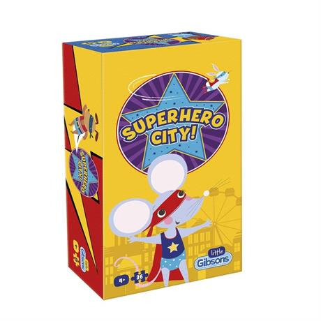 Superhero City 36 Piece Children's Jigsaw Puzzle Image 1