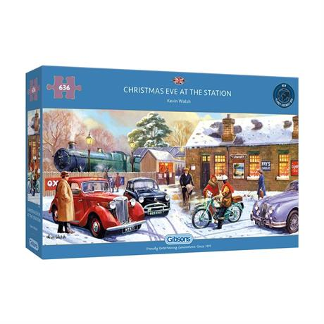 Christmas Eve at the Station 636 Piece Jigsaw Puzzle Image 1