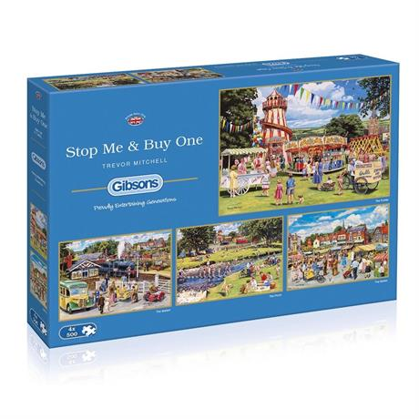 Stop Me and Buy One 4x500 Piece Jigsaw Puzzle Image 1