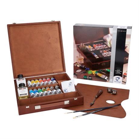 Van Gogh Oil Colour Inspiration Wooden Box Image 1