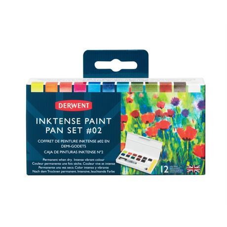 Derwent Inktense Paint 12 Pan Palette #2 Image 1