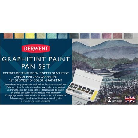 Derwent Graphitint Paint 12 Pan Palette Image 1