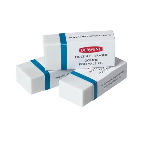 Derwent Multi Use Eraser 3 Pack Image 1