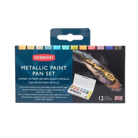 Derwent Metallic Paint 12 Pan Palette Image 1