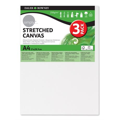 Daler Rowney Simply Stretched Canvas Triple Packs Image 1