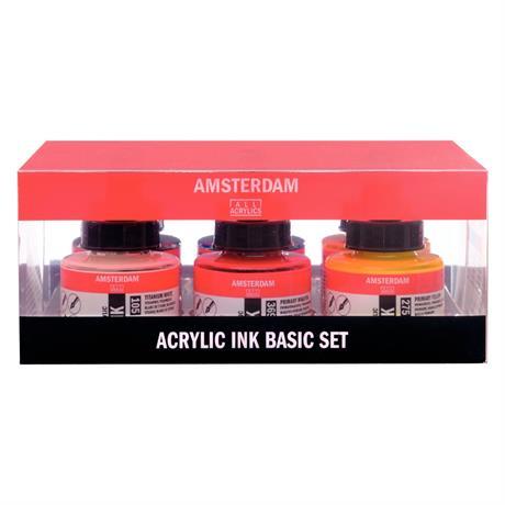 Amsterdam Acrylic Ink Set 6x30ml Image 1