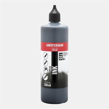 Amsterdam Acrylic Ink 250ml Oxide Black Image 1