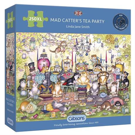 Mad Catter's Tea Party 250XL Piece Jigsaw Puzzle Image 1