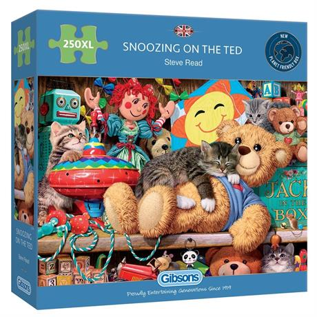 Snoozing on the Ted 250XL Piece Jigsaw Puzzle Image 1