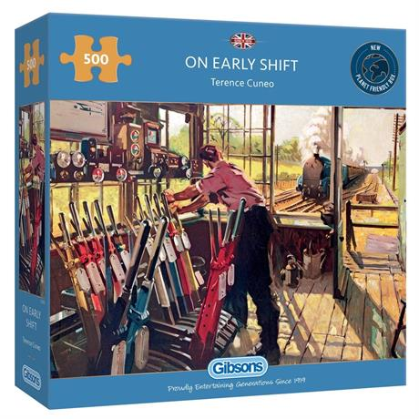 On Early Shift 500 Piece Jigsaw Puzzle Image 1