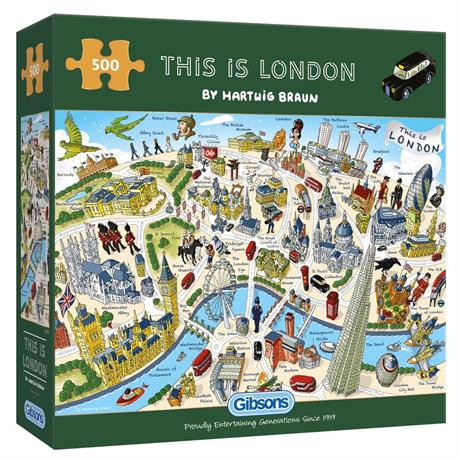 This is London 500 Piece Jigsaw Puzzle Image 1