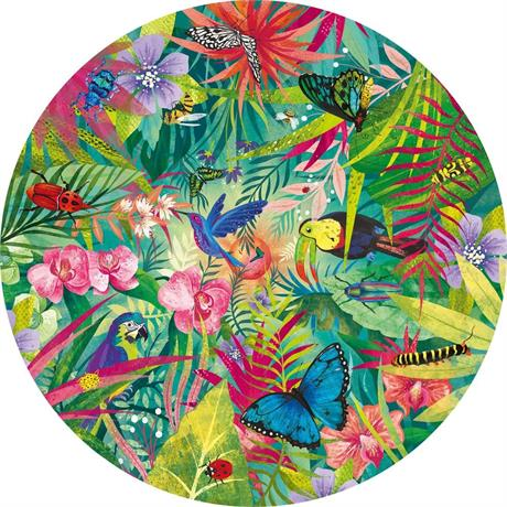 Tropical 500 Piece Jigsaw Puzzle  (CIRCULAR) Image 1
