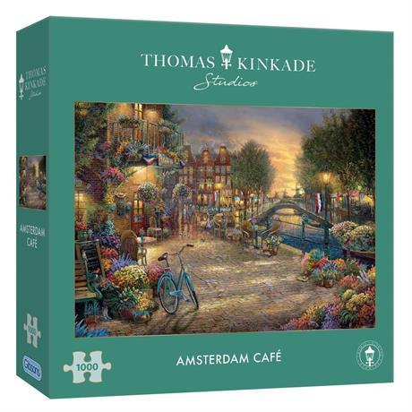 Amsterdam Cafe Jigsaw Puzzle 1000 pieces (Kinkade) Image 1
