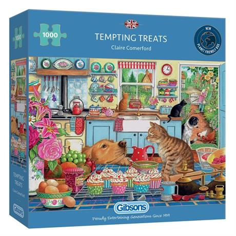 Tempting Treats 1000 Piece Jigsaw Puzzle Image 1