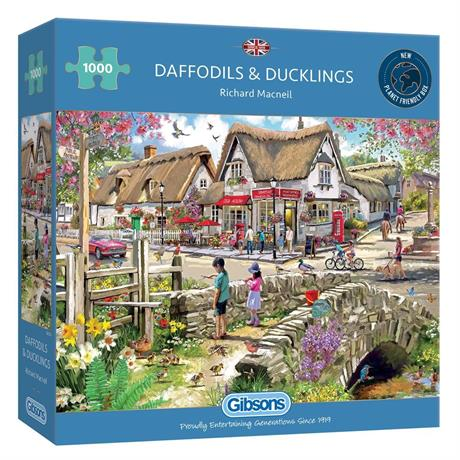 Daffodils & Ducklings 1000 Piece Jigsaw Puzzle Image 1