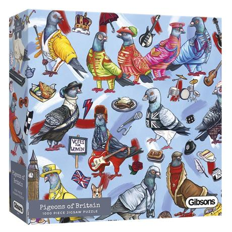 Pigeons of Britain 1000 Piece Jigsaw Puzzle Image 1