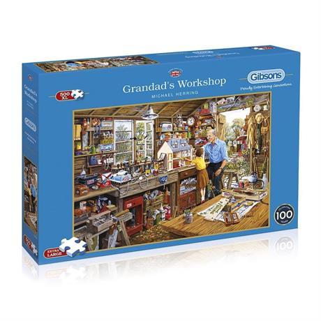 Grandad's Workshop 500XL Piece Jigsaw Puzzle Image 1