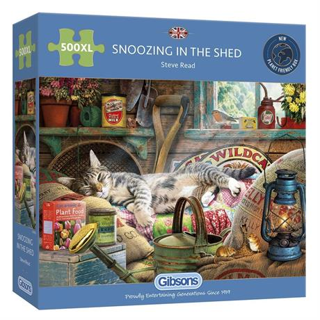 Snoozing in the Shed 500XL Piece Jigsaw Puzzle Image 1