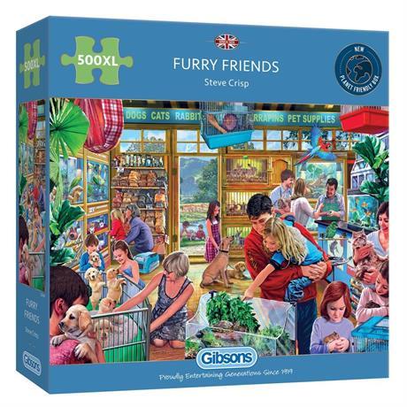 Furry Friends 500XL Piece Jigsaw Puzzle Image 1