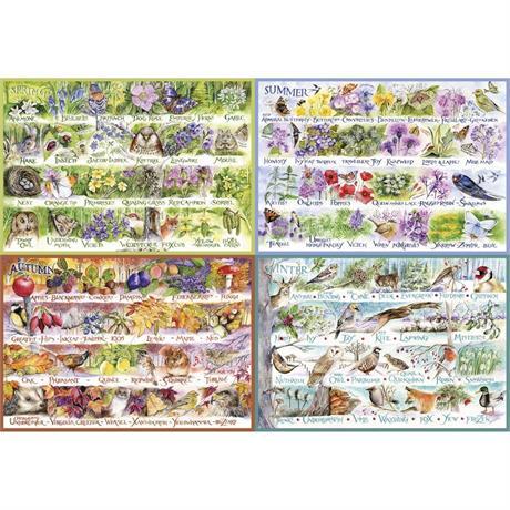 Woodland Seasons 2000 Piece Jigsaw Puzzle Image 1