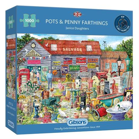 Pots & Penny Farthings 1000 Piece Jigsaw Puzzle Image 1