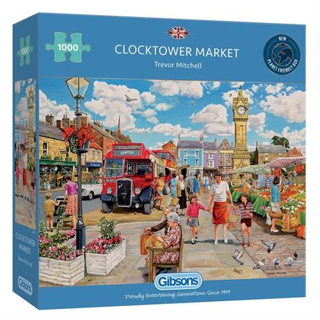 Clocktower Market 1000 Piece Jigsaw Puzzle Image 1