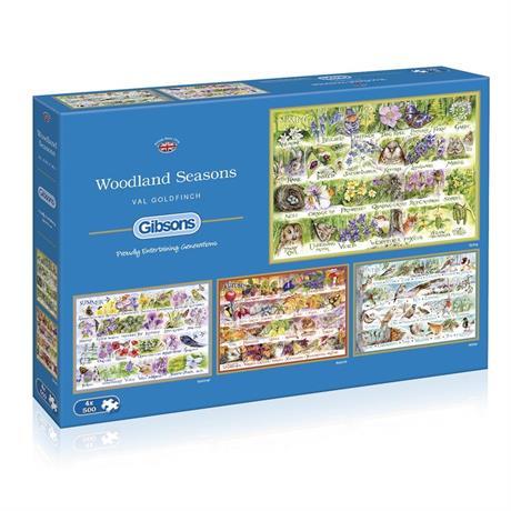 Woodland Seasons  4 x 500 Piece Jigsaw Puzzle Image 1