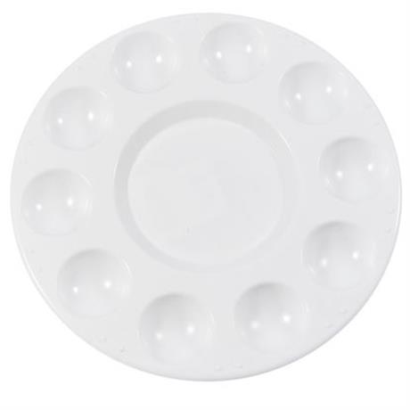 Jakar White Plastic Circular Palette Image 1