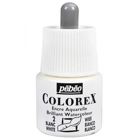 Pebeo Colorex Ink Opaque White 45ml Image 1